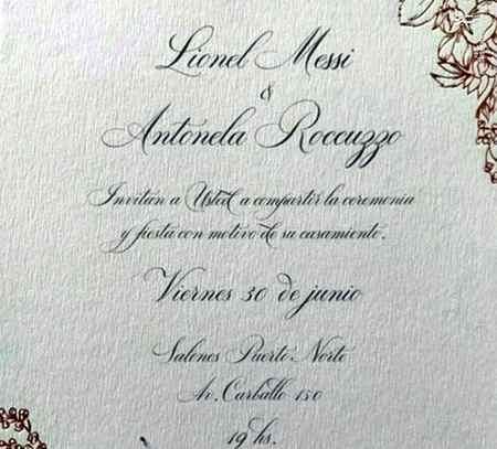 عکس کارت عروسی مسی و آنتونلا