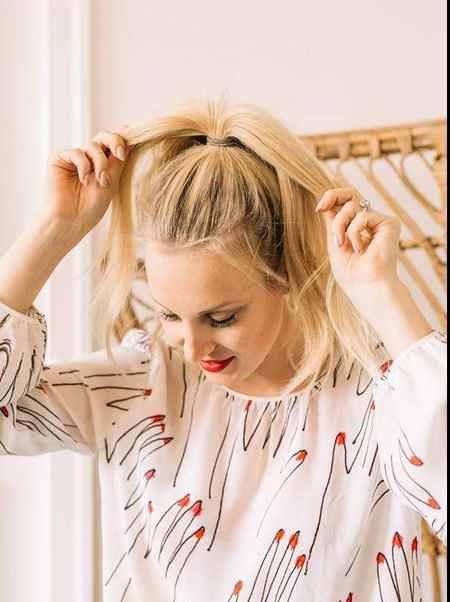 آموزش بستن مدل مو گوجه ای (1)
