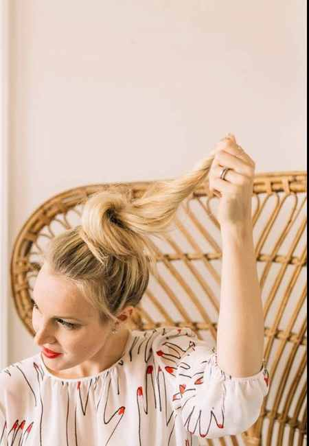 آموزش بستن مدل مو گوجه ای (4)