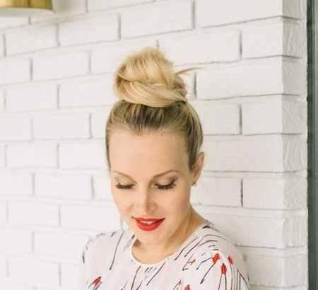 آموزش بستن مدل مو گوجه ای (6)