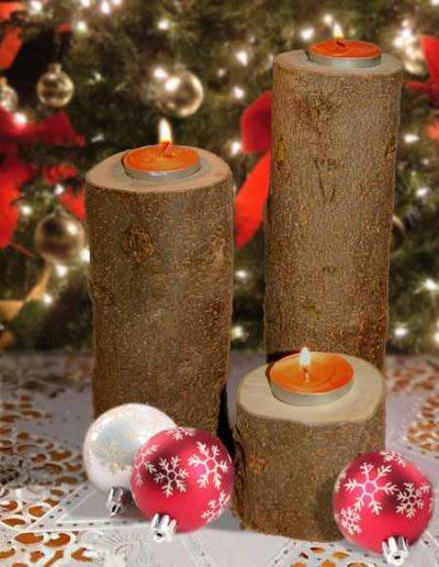 آموزش ساخت جاشمعی با چوب درخت (1)