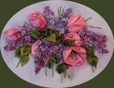 آموزش ساخت گل لاله با روبان (1)