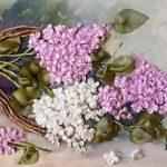 آموزش ساخت گل یاس با روبان