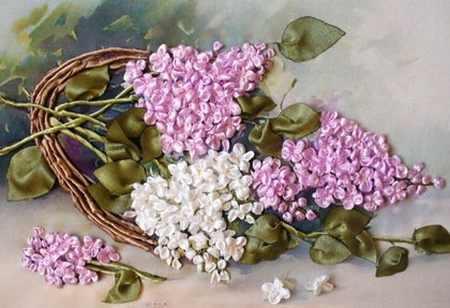 آموزش ساخت گل یاس با روبان (1)