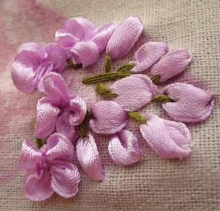 آموزش ساخت گل یاس با روبان 5 آموزش ساخت گل یاس با روبان