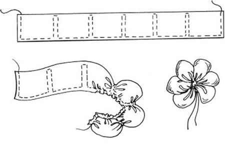 ساخت گل یاس با روبان 6 - آموزش ساخت گل یاس با روبان بصورت مرحله ای و تصویری