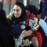 استقبال مردم از کیمیا علیزاده نایب قهرمان جهان