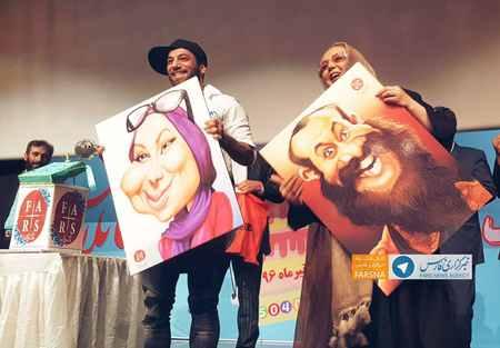 امیر تتلو و بهنوش بختیاری در جشن سالگرد فارس پلاس (1)