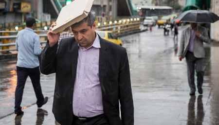 بارش باران تابستانی در تهران 2 بارش باران تابستانی در تهران