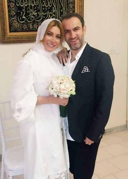 عکس ازدواج فریبا نادری با لباس عروس