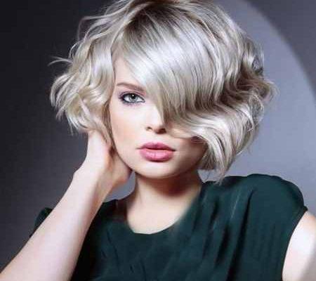 مدل مو کوتاه موج دار دخترانه (1)