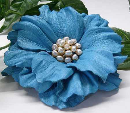 مدل گل های چرمی تزئینی (1)