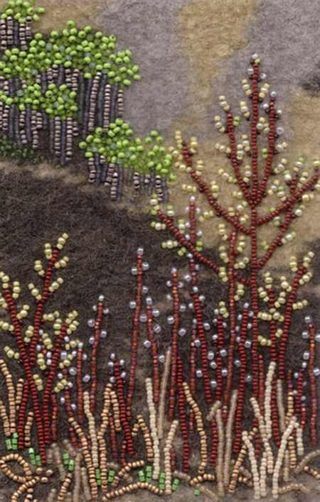 کارهای منجوق دوزی روی نمد 6 - نمونه کارهای منجوق دوزی روی نمد با طرح های جدید و امروزی