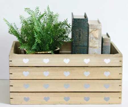 آموزش تزیین جعبه چوبی با قلب (1)