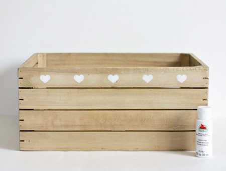 آموزش تزیین جعبه چوبی با قلب (4)