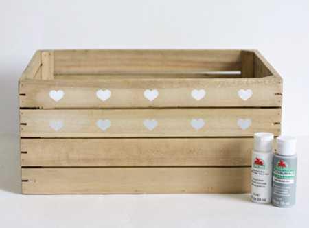 آموزش تزیین جعبه چوبی با قلب (5)