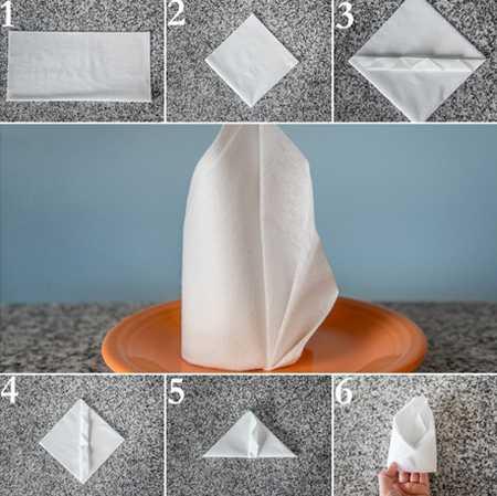 آموزش تزیین دستمال سفره (1)