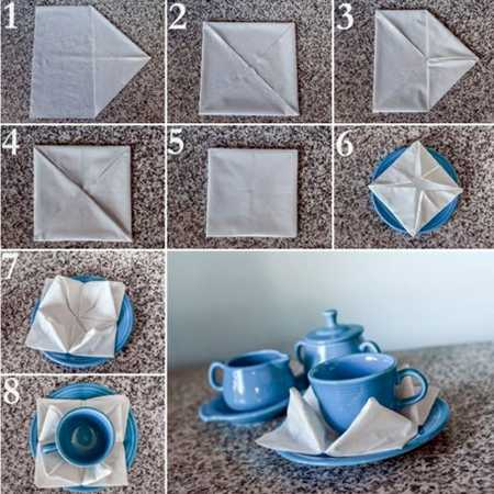 آموزش تزیین دستمال سفره (10)