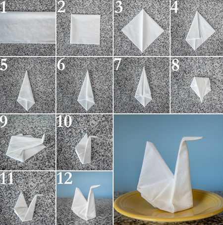 آموزش تزیین دستمال سفره (3)