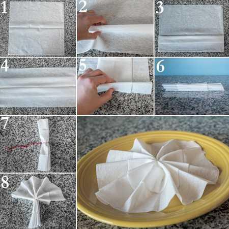 آموزش تزیین دستمال سفره (4)