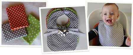 آموزش دوختن پیشبند نوزاد (1)