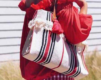 آموزش دوختن کیف دخترانه با پارچه برزنتی (1)