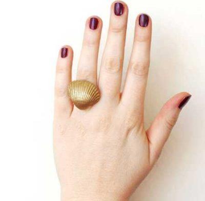 آموزش ساخت انگشتر صدفی (1)