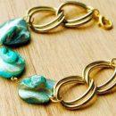 آموزش ساخت دستبند با زنجیر و سنگ های رنگی (1)