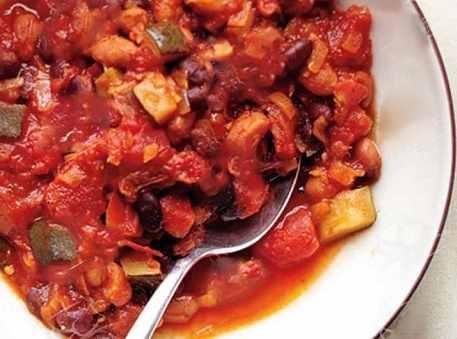 طرز تهیه خوراک چیلی گیاهی