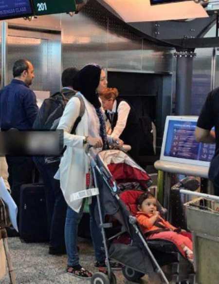 عکس تیپ آزاده نامداری در فرودگاه میلان ایتالیا