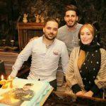 عکس سحر قریشی در جشن تولد برادرش