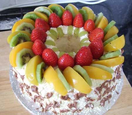 عکس های تزیین کیک با میوه 11 عکس های تزیین کیک با میوه