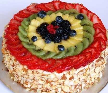 عکس های تزیین کیک با میوه 17 عکس های تزیین کیک با میوه