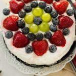 عکس های تزیین کیک با میوه