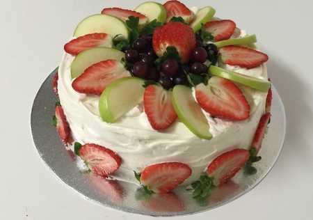 عکس های تزیین کیک با میوه 27 عکس های تزیین کیک با میوه