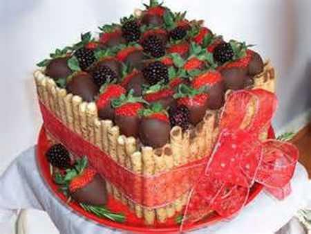 عکس های تزیین کیک با میوه 28 عکس های تزیین کیک با میوه
