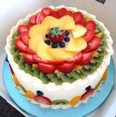 عکس های تزیین کیک با میوه 5 عکس های تزیین کیک با میوه