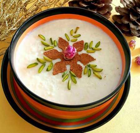 نمونه های تزیین شیر برنج مجلسی 1 نمونه های تزیین شیر برنج مجلسی