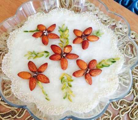 نمونه های تزیین شیر برنج مجلسی 13 نمونه های تزیین شیر برنج مجلسی