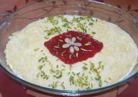 نمونه های تزیین شیر برنج مجلسی (3)