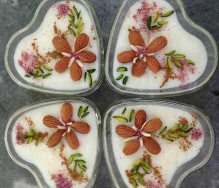 نمونه های تزیین شیر برنج مجلسی (5)