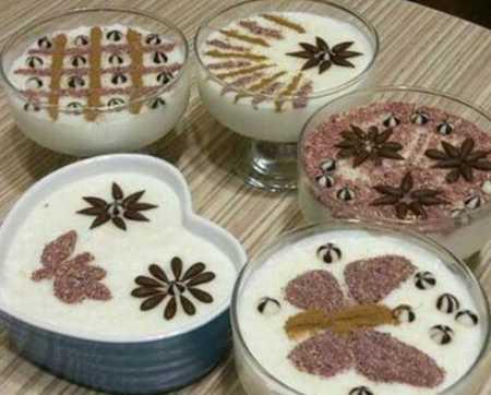 نمونه های تزیین شیر برنج مجلسی 6 نمونه های تزیین شیر برنج مجلسی