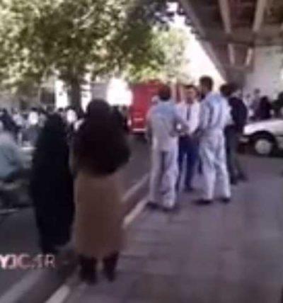 کلیپ آتش سوزی ساختمان وزارت نفت