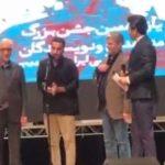 کلیپ واکنش تند نوید محمدزاده به بی احترامی به عزت الله انتظامی