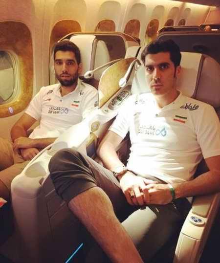 بیوگرافی سید محمد موسوی والیبالیست ایران و همسرش (9)
