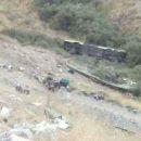 تصادف و سقوط اتوبوس در دره جاجرود ( جاده آبعلی ) (1)