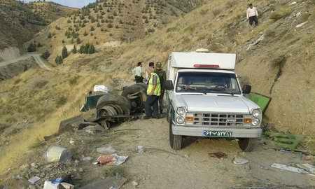 تصادف و سقوط اتوبوس در دره جاجرود ( جاده آبعلی ) (2)