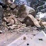 ریزش کوه در جاده هراز 4 مصدوم بر جای گذشت