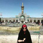 عکس مهراوه شریفی نیا در مشهد مقدس با تیپ چادری