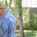 عکس مهناز افشار با ست مانتو و روسری آبی